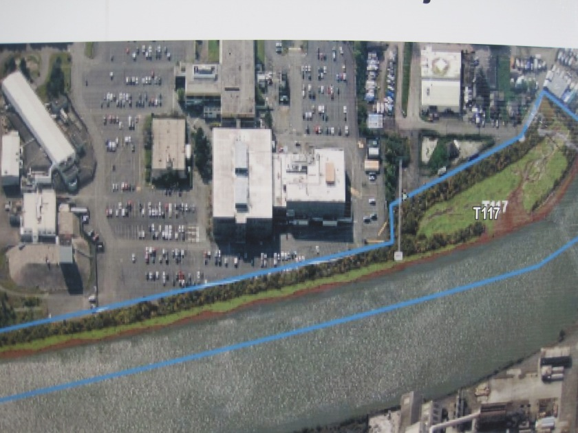 Map on sign about new park T-117