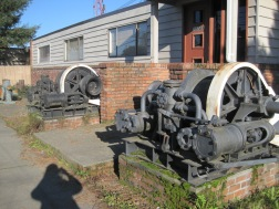 Twin Machines outside front door of former Boat Mfg Company
