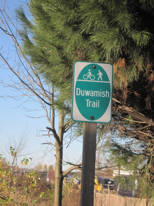 Duwamish Trail Sign on 1st Ave So