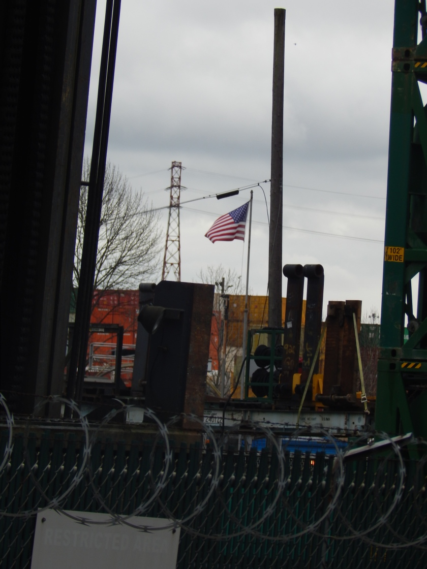 Flag amidst industry