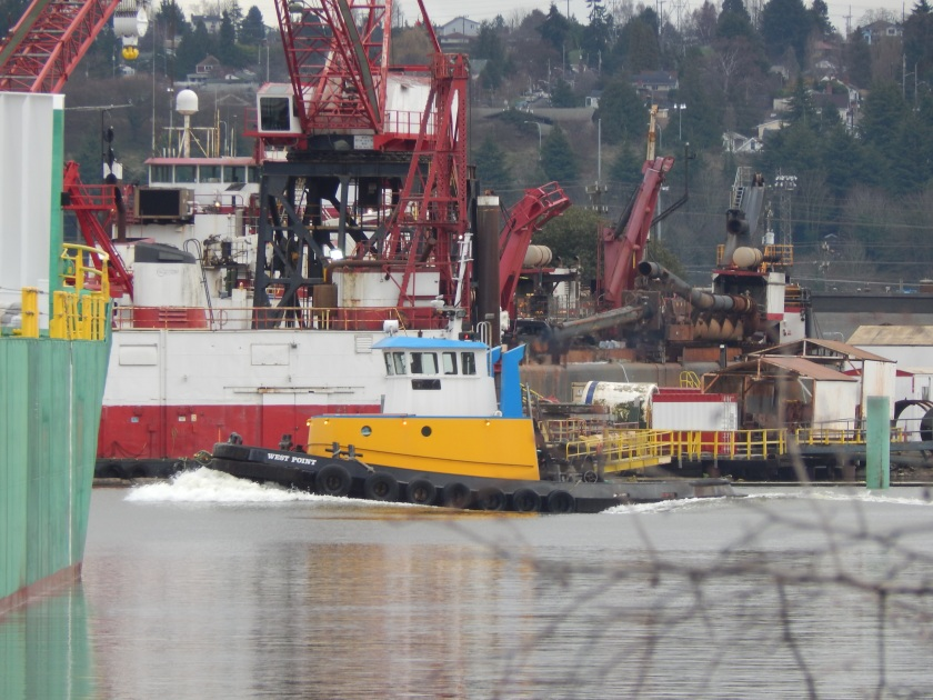 Duwamish River tug at south end of Kellogg Island