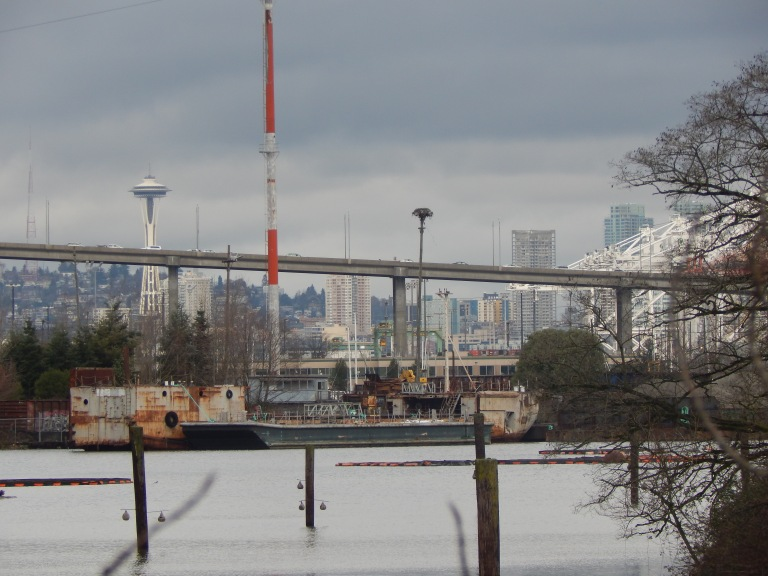 Space Needle & Seattle from Kellogg Island on Duwamish