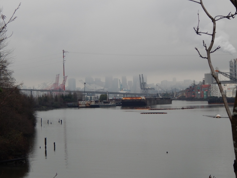 Duwamish River, West Seattle Bridge and Seattle in distance