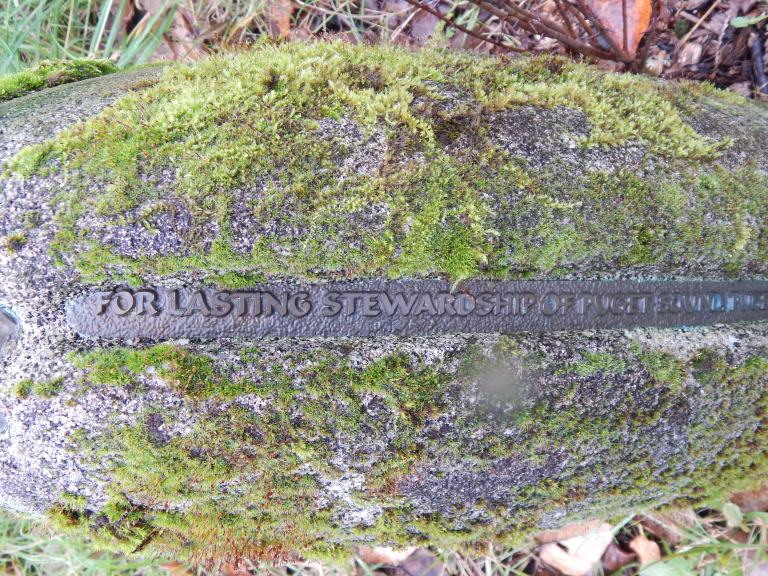 Inscription on Marker near Duwamish & Puget Creek