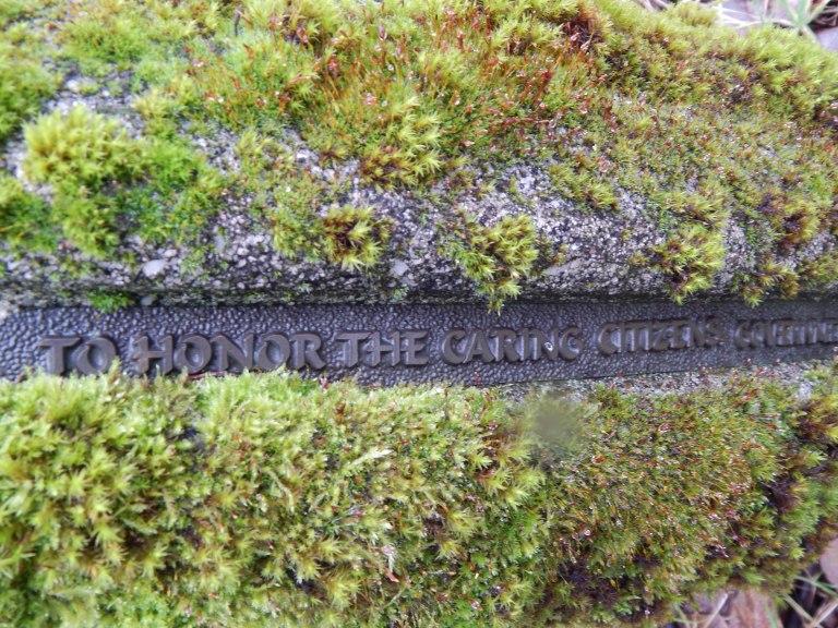 Marker commemorating renewal of T-107 Park