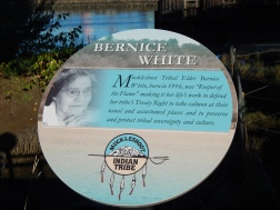 Bernice White memorial sign on Duwamish under W Sea Bridge