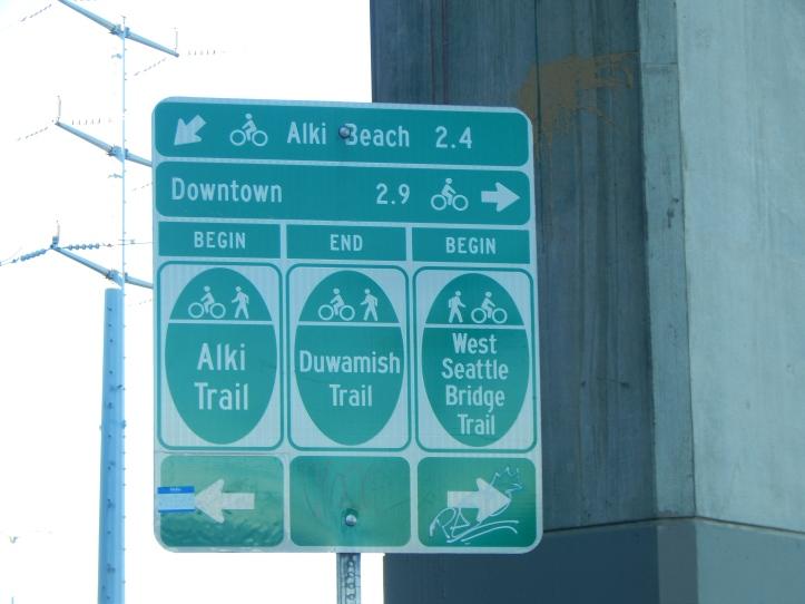 Duwamish Trail ends here under W Sea Bridge
