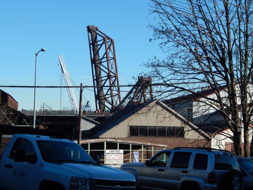 BNSF train bridge from Riverside