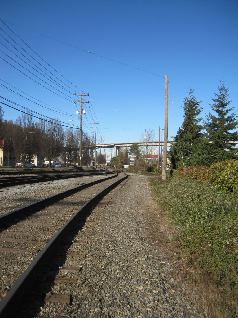 West Marginal Way SW and Train Tracks