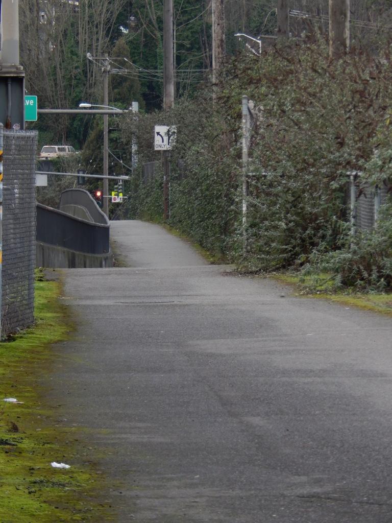 Alki Trail eastward towards Harbor Ave SW