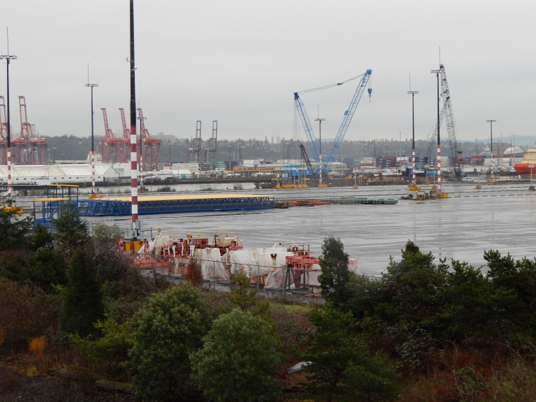 Looking SE at T-5 - Upgrade to Pier in progress
