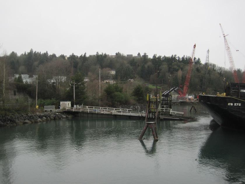 Looking back at rail ramp