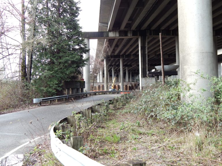 Freeway over Monster Road - old Longacres entrance