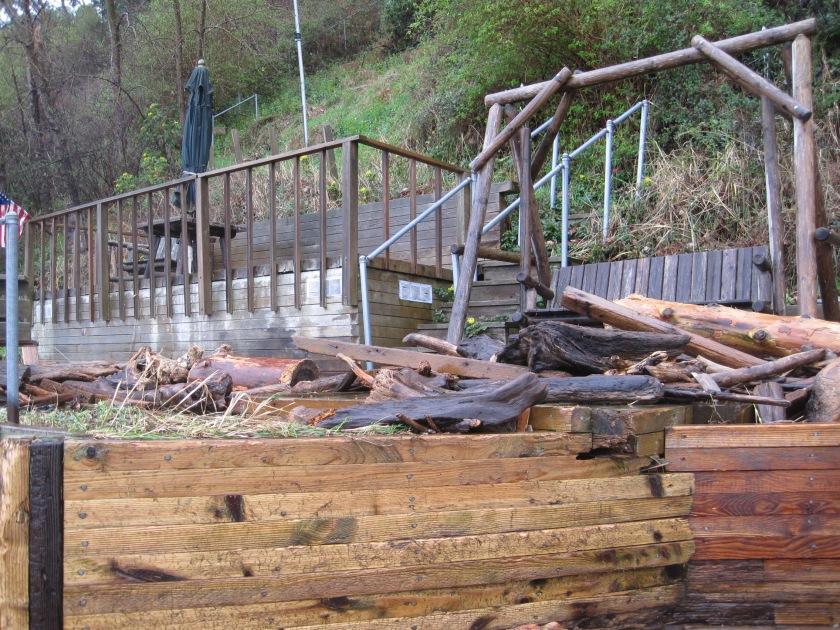 Ocean View Driftwood damage