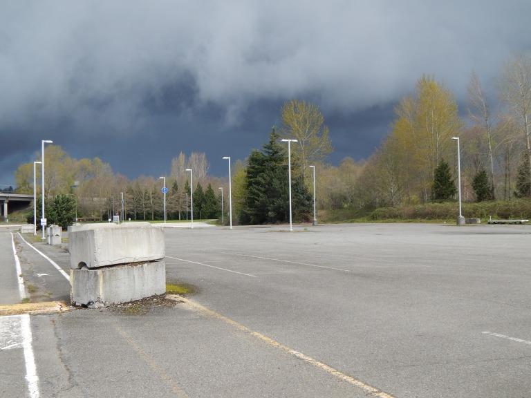 Old Parking Lot Longacres Racetrack