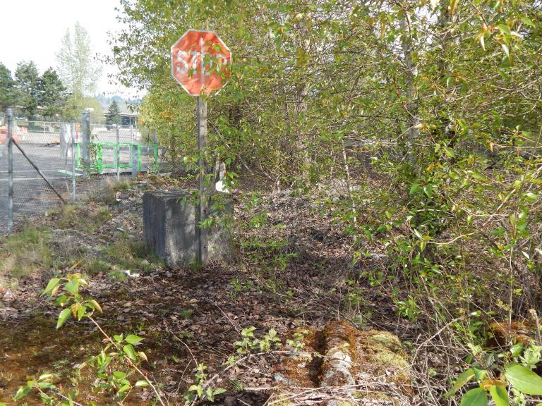 Stop Sign to no-where at Longacres ruins