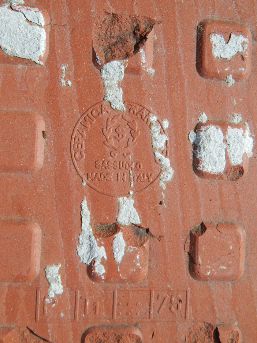 Tile from Sassuolo Italy - Longacres Ruins