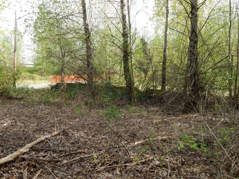 Broken gate and Boeing walkway thru original Longacres grandstand