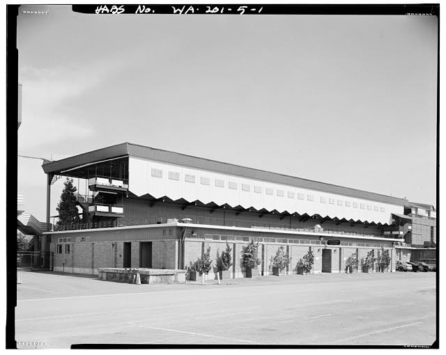 North Grandstand from parking lot in 1993
