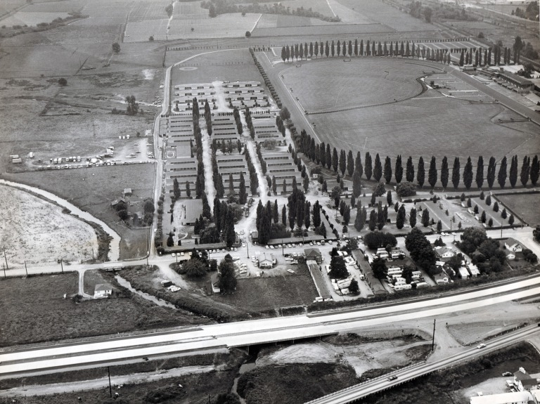 Longacres in the 1960s next to I-405