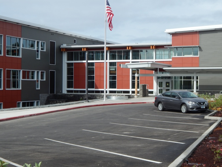 Front Entrance of Arbor Heights new school