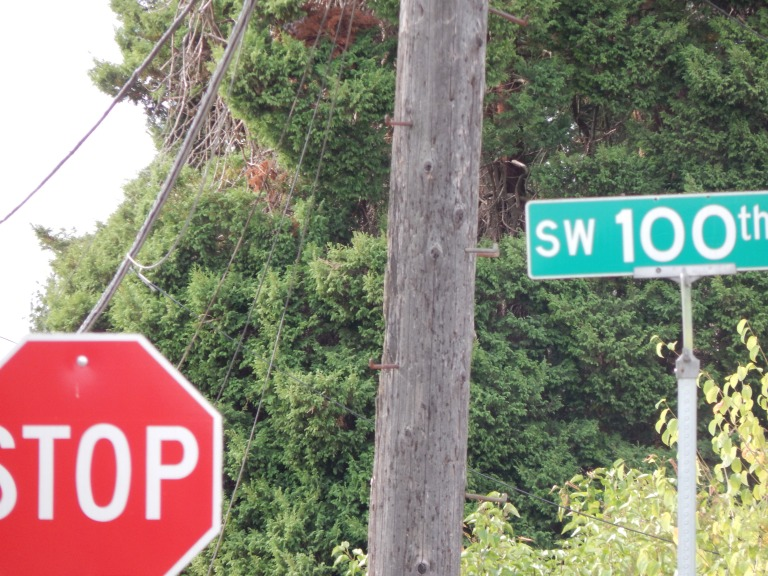 100th to the south of the crow alley
