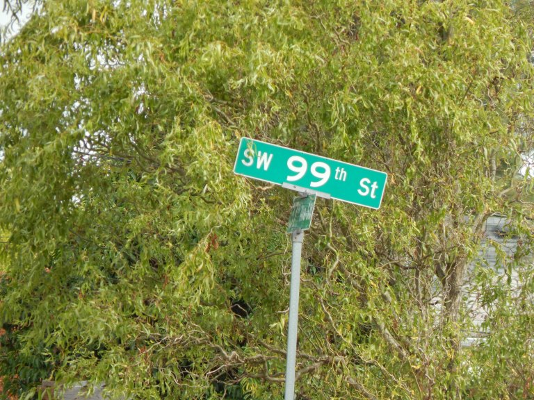 99th is north of the crow alley