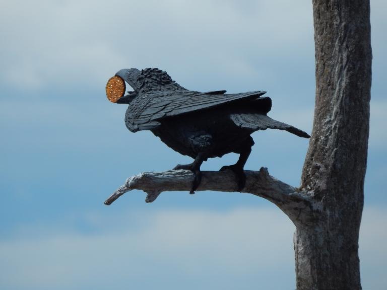 Raven Sculpture at Cove Park, West Seattle