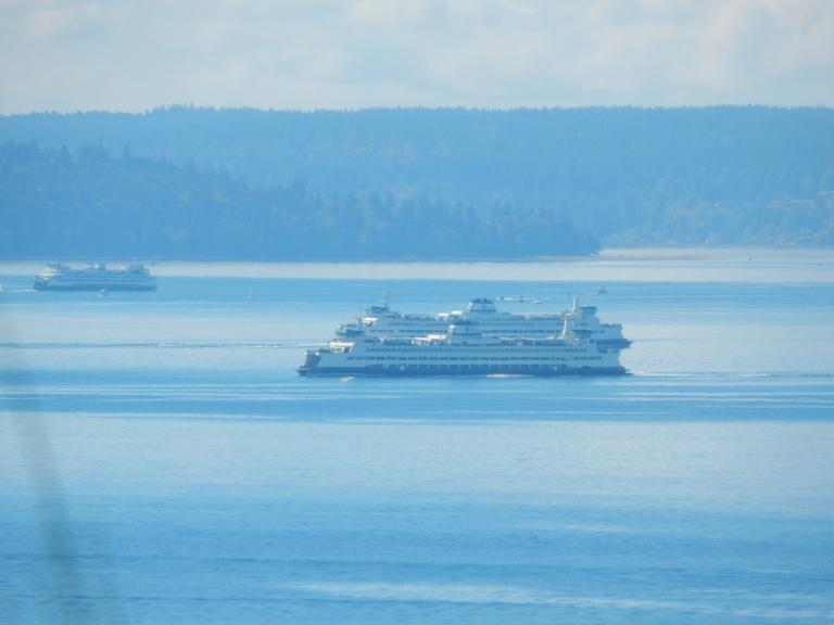 Three Ferries cross the Sound