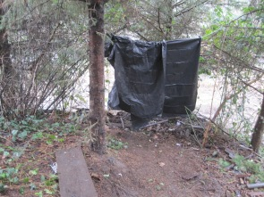 Herring House - Homeless tarp