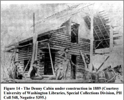 Denny Cabin being built 1889