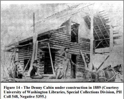 Denny Cabin being built 1889