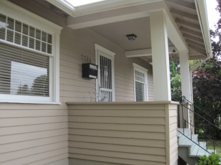 Front porch looking south