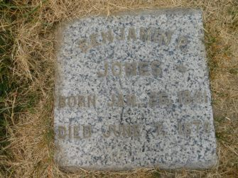Benjamin P Jones grave marker