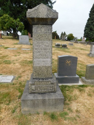 Jones Family Monument at Lakeview Cemetery Seattle, WA